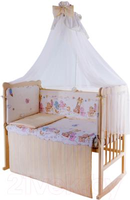Комплект в кроватку Баю-Бай Забава К90-З2 (бежевый)