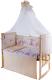 Комплект постельный в кроватку Баю-Бай Забава К90-З2 (бежевый) -