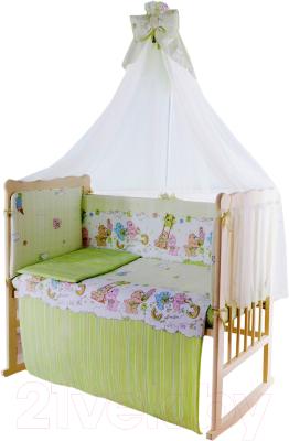 Комплект в кроватку Баю-Бай Забава К90-З3 (зеленый)