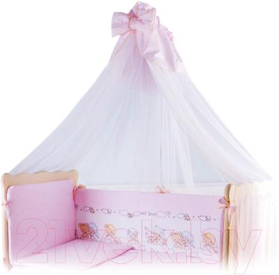 Комплект в кроватку Баю-Бай Мечта К120-М1 (розовый)
