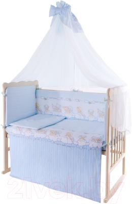 Комплект постельный в кроватку Баю-Бай Мечта / К120-М4 (голубой)