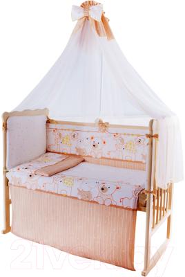 Комплект в кроватку Баю-Бай Дружба К120-Д2 (бежевый)