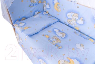 Комплект в кроватку Баю-Бай Нежность К120-Н4 (голубой)