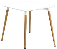 Обеденный стол Halmar Socrates Kwadrat (белый/бук) -