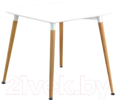 Обеденный стол Halmar Socrates Kwadrat (белый/бук)