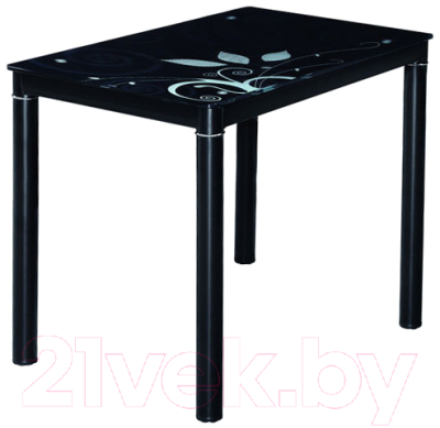 Обеденный стол Signal Damar (80x60, черный)