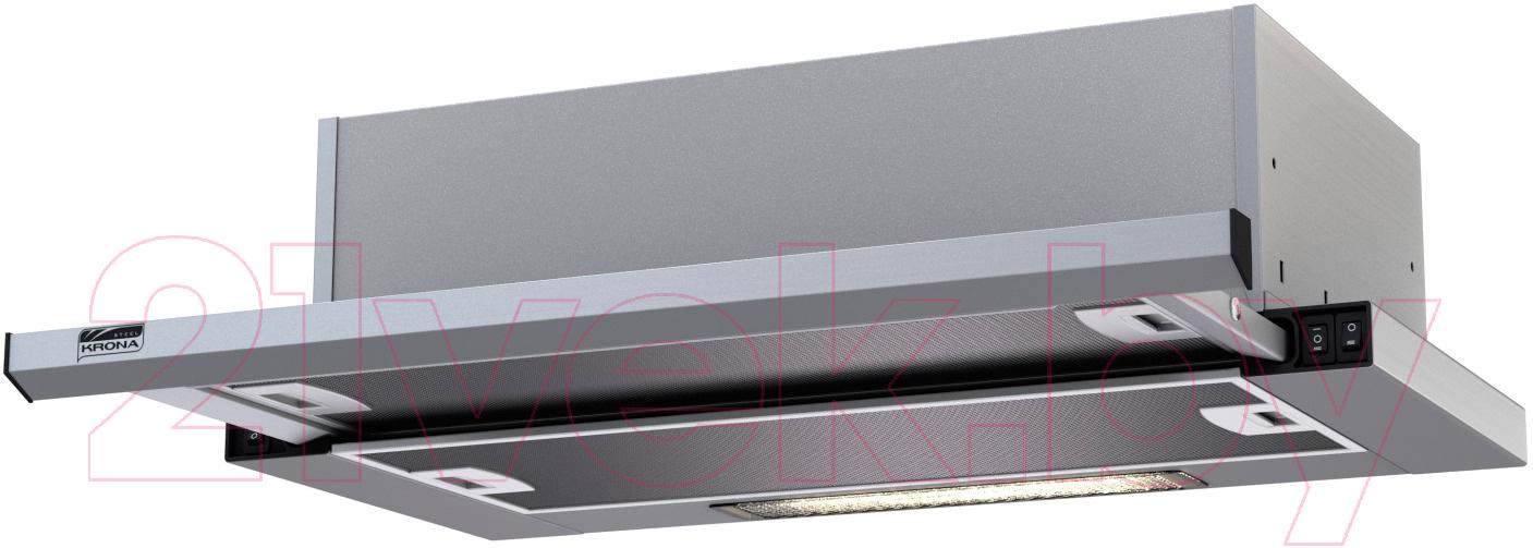 Купить Вытяжка телескопическая Krona, Kamilla Slim 600 2m / 00020956 (нержавеющая сталь), Турция