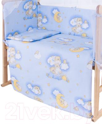 Пододеяльник детский Баю-Бай Нежность ПД10-Н4 (голубой)