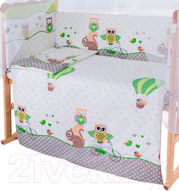 Пододеяльник детский Баю-Бай Раздолье ПД10-Р3 (зеленый)