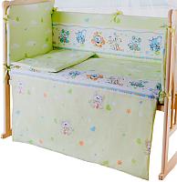 Пододеяльник детский Баю-Бай Улыбка ПД11-У3 (зеленый) -