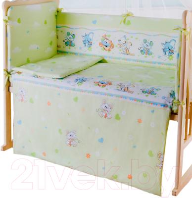 Пододеяльник детский Баю-Бай Улыбка ПД11-У3 (зеленый)