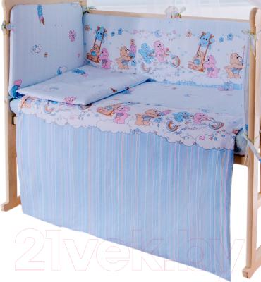 Пододеяльник детский Баю-Бай Забава ПД11-З4 (голубой)