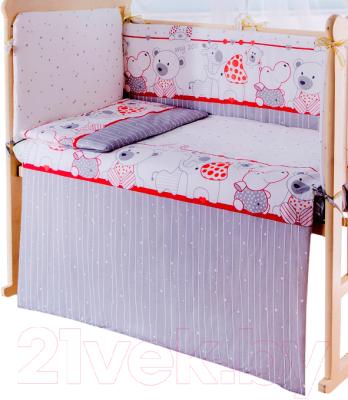Пододеяльник детский Баю-Бай Дружба ПД11-Д1 (красный)