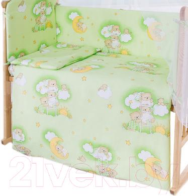 Пододеяльник детский Баю-Бай Нежность ПД11-Н3 (зеленый)
