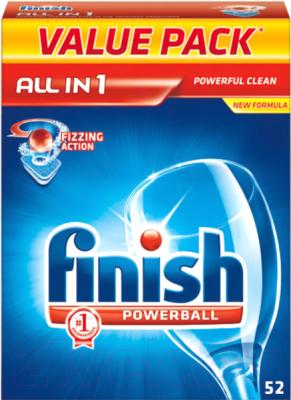 Таблетки для посудомоечных машин Finish Powerball All in One (52шт)