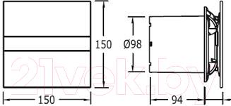 Вентилятор вытяжной Cata E-100 GTH BK Hygro
