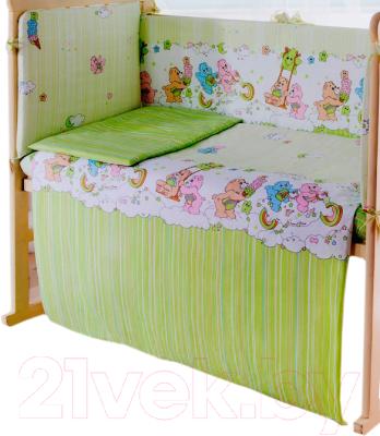 Простыня детская Баю-Бай Забава ПР11-З3 (зеленый)