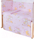 Простыня детская Баю-Бай Нежность / ПР12-Н1 (розовый) -