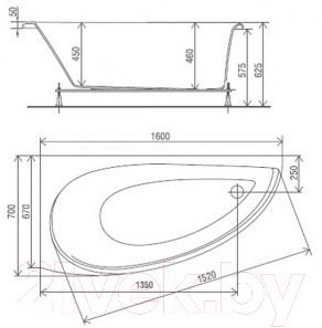 Экран для ванны Artel Plast Далина R