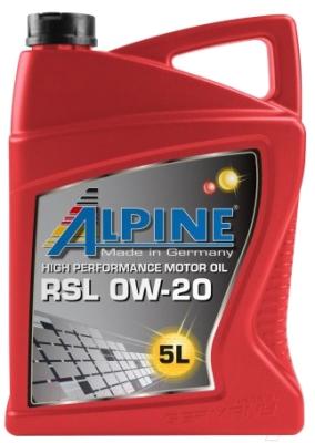 Моторное масло ALPINE RSL 0W20 / 0100192 (5л)
