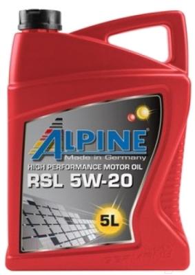 Моторное масло ALPINE RSL 5W20 / 0100152 (5л)