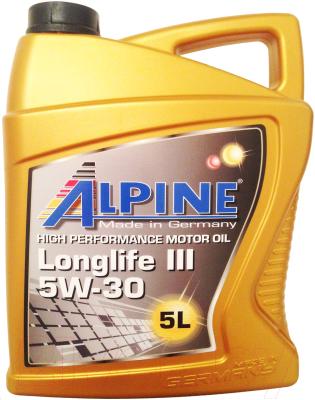 Моторное масло ALPINE Longlife III 5W30 / 0100282 (5л)