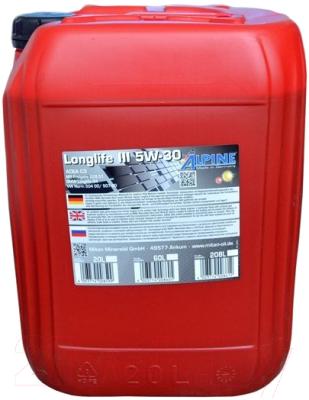 Моторное масло ALPINE Longlife III 5W30 / 0100283 (20л)