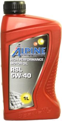 Моторное масло ALPINE RSL 5W40 / 0100141 (1л)