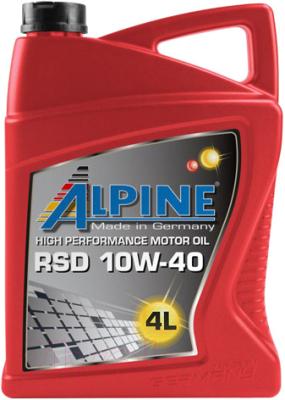 Моторное масло ALPINE RSD 10W40 / 0100128 (4л)