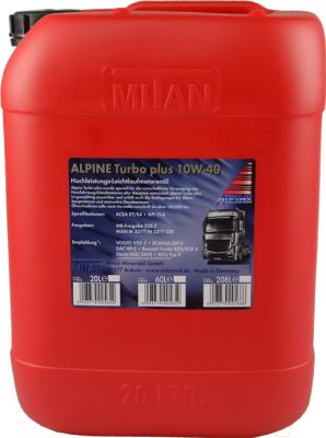 Моторное масло ALPINE Turbo Plus 10W40 / 0100363 (20л)