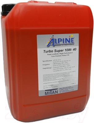 Моторное масло ALPINE Turbo Super 10W40 / 0100343 (20л)