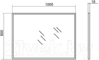 Зеркало для ванной Аква Родос Акцент 100 / AP0001548 (без подсветки)