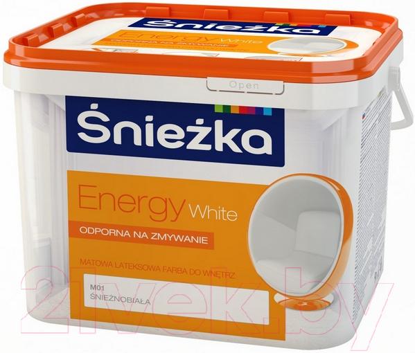 Купить Краска Sniezka, Energy White (10л, белоснежная), Польша, белый