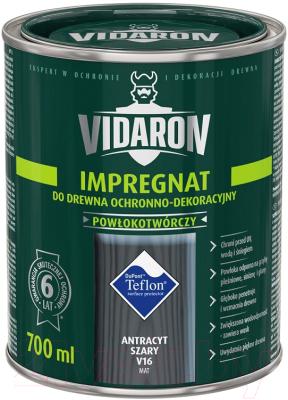 Защитно-декоративный состав Vidaron Impregnant V16 Антрацит (700мл)