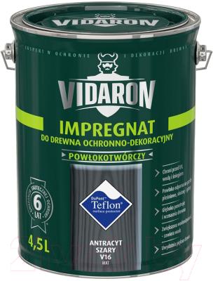 Защитно-декоративный состав Vidaron Impregnant V16 Антрацит (4.5л)