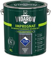 Защитно-декоративный состав Vidaron Impregnant V16 Антрацит (9л) -