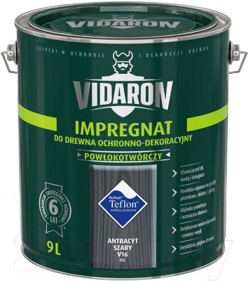 Защитно-декоративный состав Vidaron Impregnant V16 Антрацит (9л)