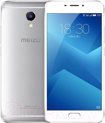 Смартфон Meizu M5 Note 16Gb (серебристый/белый)