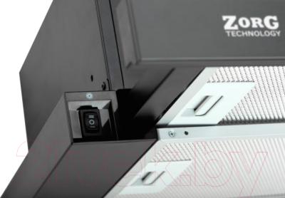Вытяжка телескопическая Zorg Technology Storm 700 (60, черный/черное стекло)