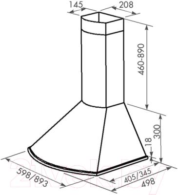 Вытяжка купольная Zorg Technology Лео M (Bora) 1000 (90, бежевый)