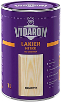 Лак Vidaron Нитро для древесины (1л, бесцветный матовый) -