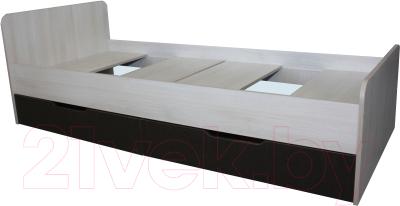 Односпальная кровать Мебель-Класс Лира-1 (венге/дуб шамони)