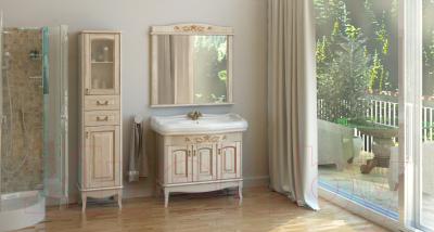 Зеркало для ванной Аква Родос Микелла 80 / АР0001256 (ваниль)