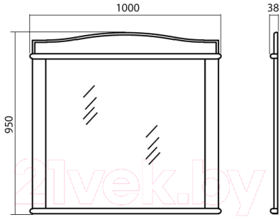 Зеркало для ванной Аква Родос Микелла 100 / АР0001254 (ваниль)