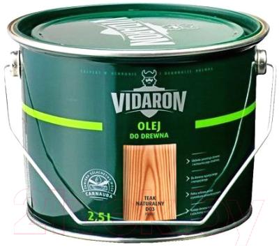 Масло для древесины Vidaron D03 Тик натуральный (2.5л)