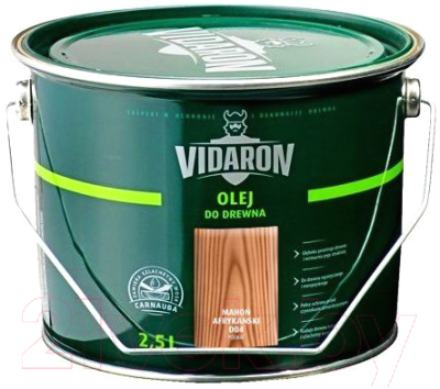 Масло для древесины Vidaron D04 Африканское красное дерево (2.5л)
