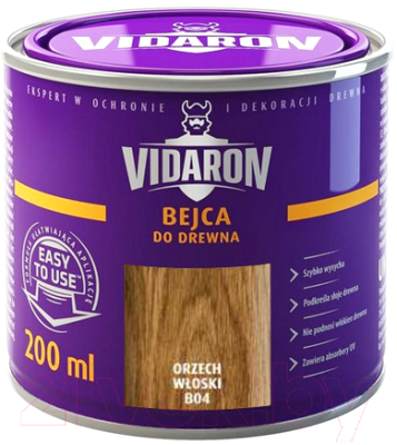 Морилка Vidaron B04 Орех грецкий (200мл)