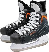 Коньки хоккейные Sundays PW-206G (34, черный/оранжевый) -