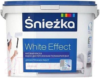 Купить Краска Sniezka, White Effect полиакриловая (5л), Беларусь, белый