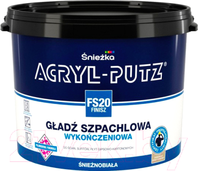 Шпатлевка Sniezka Acryl Putz FS20 Finish (8кг, готовая)
